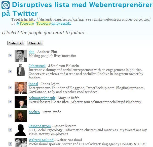 Entreprenörer på twitter